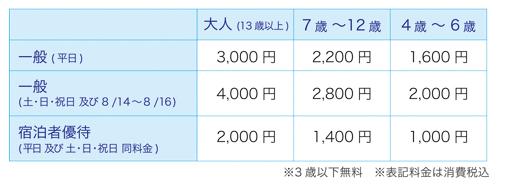 東京ベイ舞浜ホテル クラブリゾート 料金表 画像